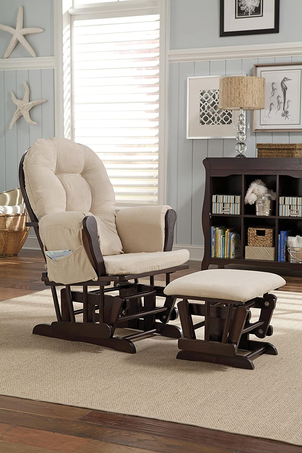Amazon.com: Stork Craft Hoop Glider and Ottoman Set, Espresso/Beige: Baby - Amazon.com: Stork Craft Hoop Glider And Ottoman Set, Espresso