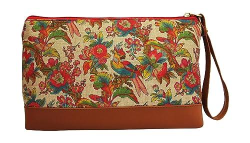 6caeb84f065 Ek Pahechan Women's Wristlet With Kalamkari Prints Designer make up ...