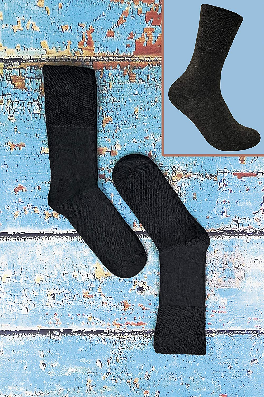 Sock Snob 3 paia donna senza elastico calzini diabetici invernalii termici per la circolazione in 4 colori