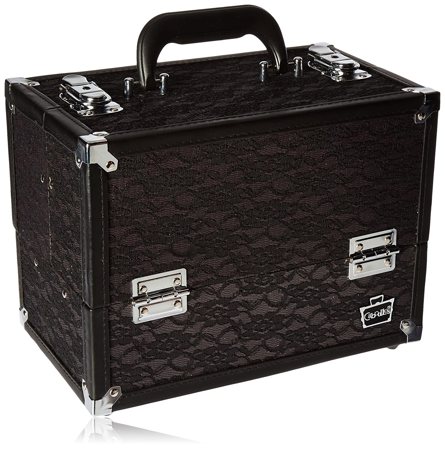 Caboodles Make Me Over 4 Tray Train Case, Black Lace, 3.5 Pound 587748