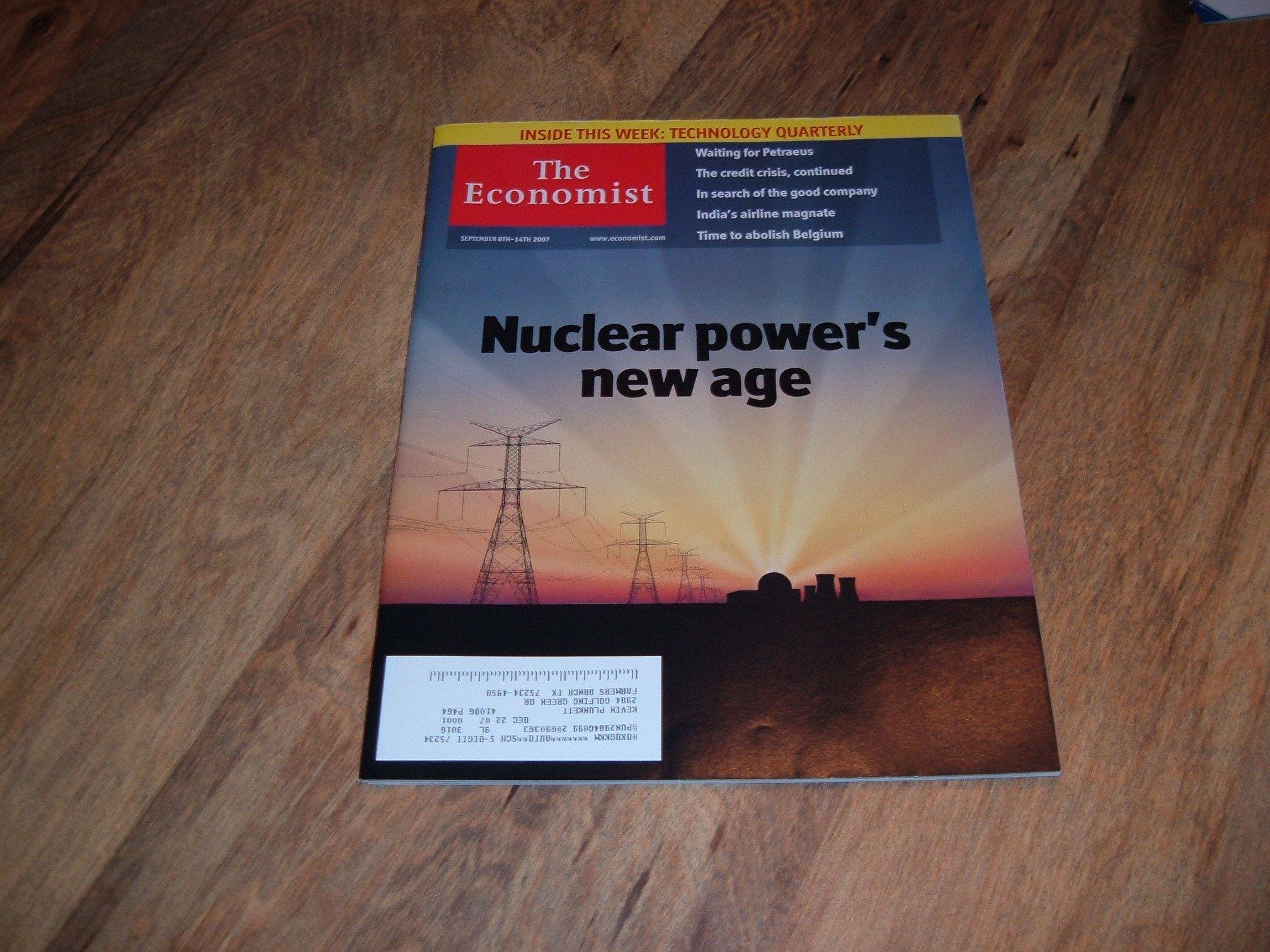 Read Online The Economist magazine, September 8-14, 2007-Nuclear Power's New Age. pdf epub