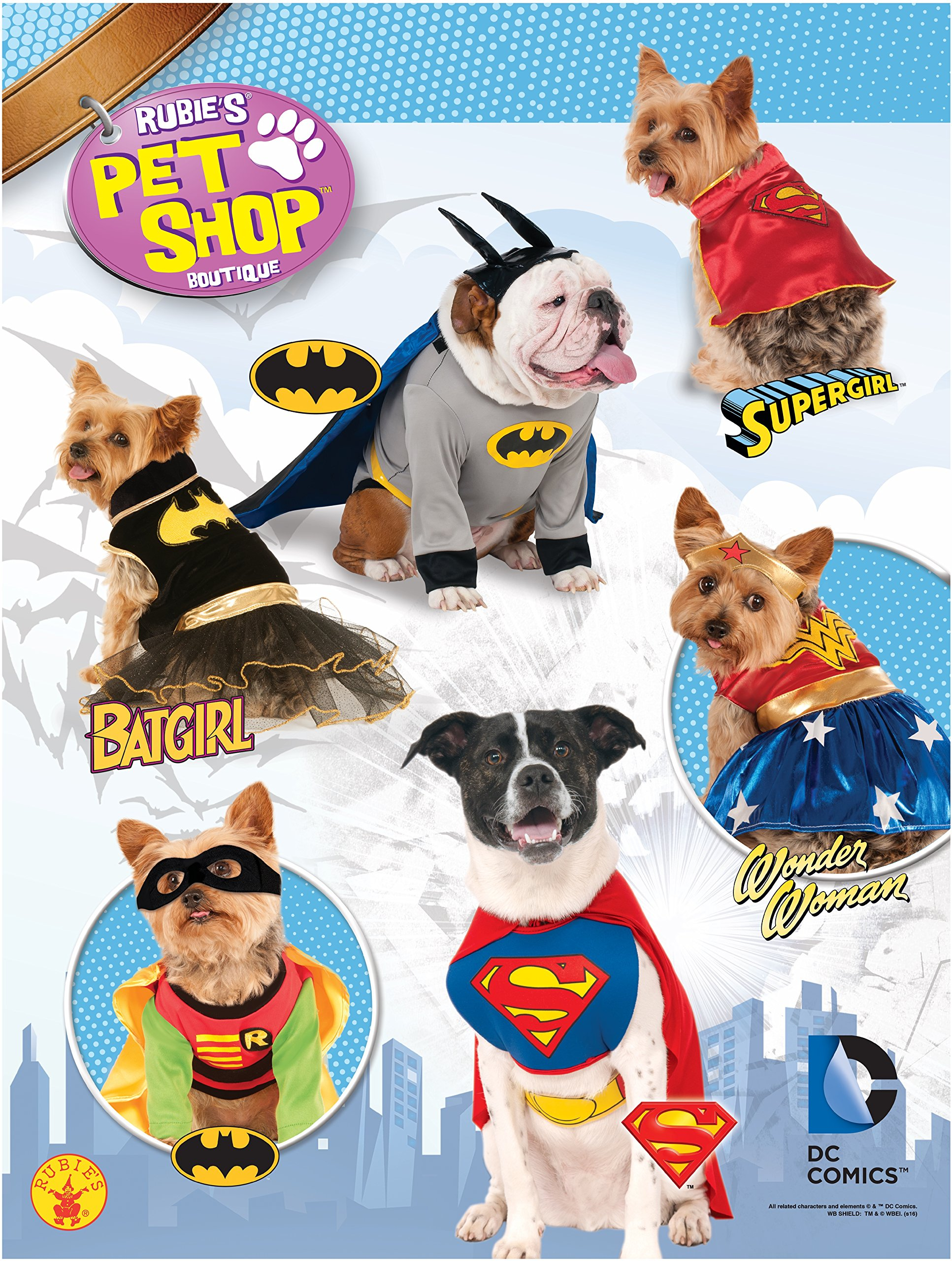 Rubie's DC Comics Pet Costume, Superman, Small by Rubie's (Image #2)