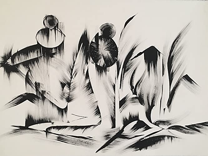 Amazon Com Black And White Abstract Drawing 10 Khrystyna