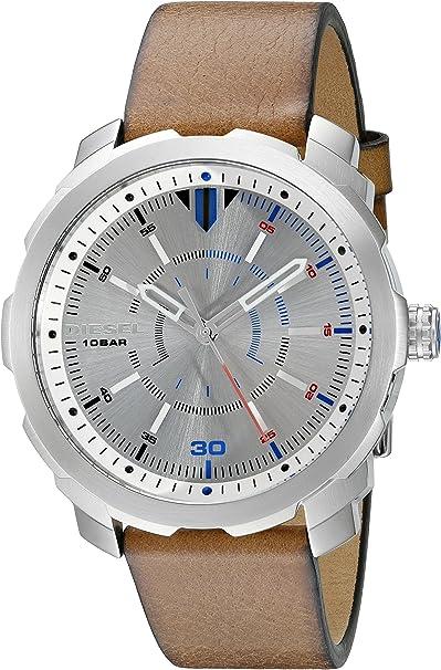 Diesel Reloj Analógico para Hombre de Cuarzo con Correa en Cuero DZ1736