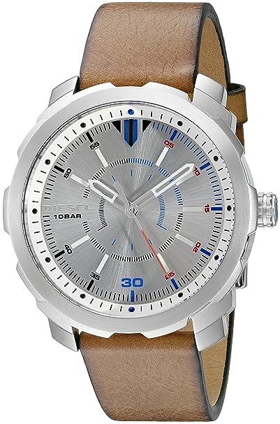 Diesel Reloj Analógico para Hombre de Cuarzo con Correa en Cuero DZ1736: Amazon.es: Relojes