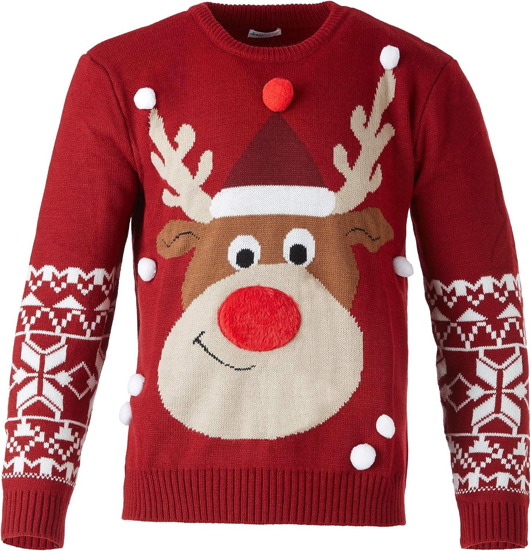dressforfun Weihnachtspullover Rudi Rentier für Frauen M