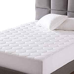 "EXQ Home Cal King Mattress Pad Quilted Mattress Protector Fitted Sheet Mattress Cover for Bed Stretch Up to 18"" Deep Pocket (Breathable)"
