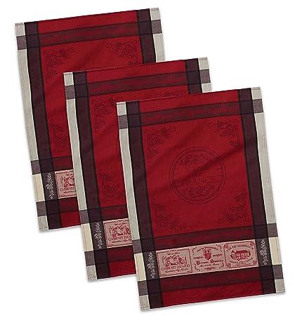 DII Cotton French Jacquard Dish Towels Decorative Tea... 20x28 Set of 3