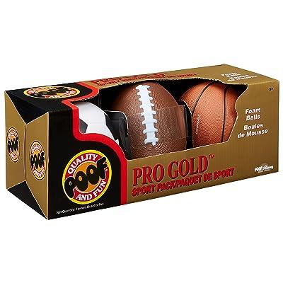 POOF Pro Gold Mini Sport Pack Kids Foam Balls: Toys & Games