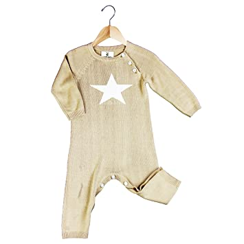e7569dbac162 Amazon.com  Earth Baby Outfitters Bamboo Star Kint Romper 3-6 months ...