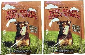 Trader Joe's Beef Recipe Jerky Strips 6 Oz. Bag, (2 Pack)