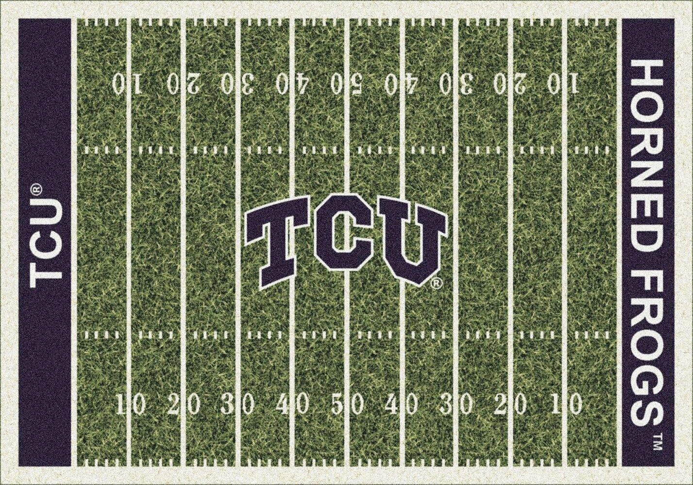 Texas Christian Horned Frogs Milliken NCAA Home Field Area Rug (5'4'' x 7'8'') by Milliken