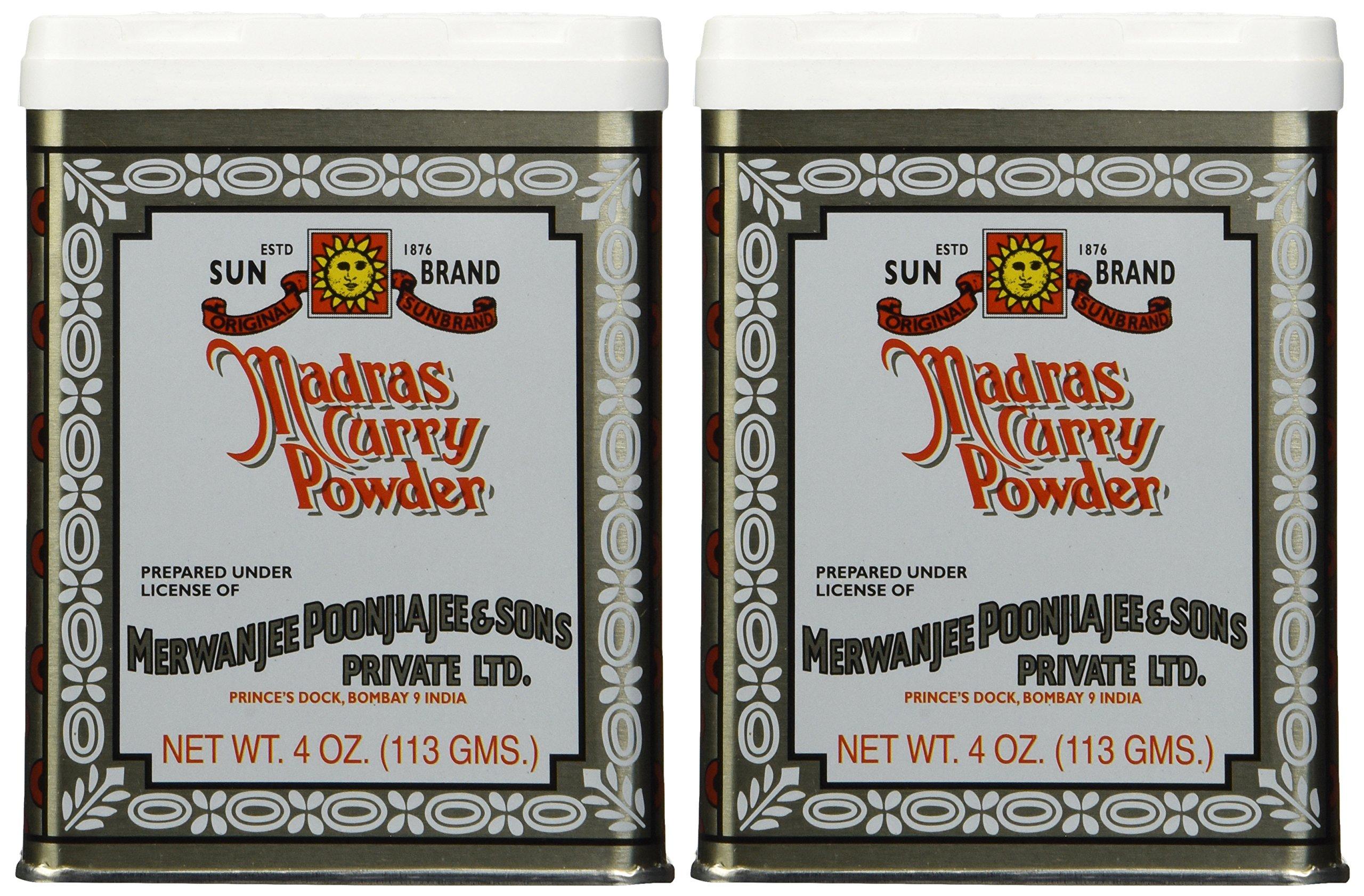 SUN BRAND Madras Curry Powder, 4 OZ (pack of 2)