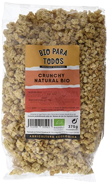 Bio para todos Crunchy Natural Bio - 6 Paquetes de 375 gr - Total ...