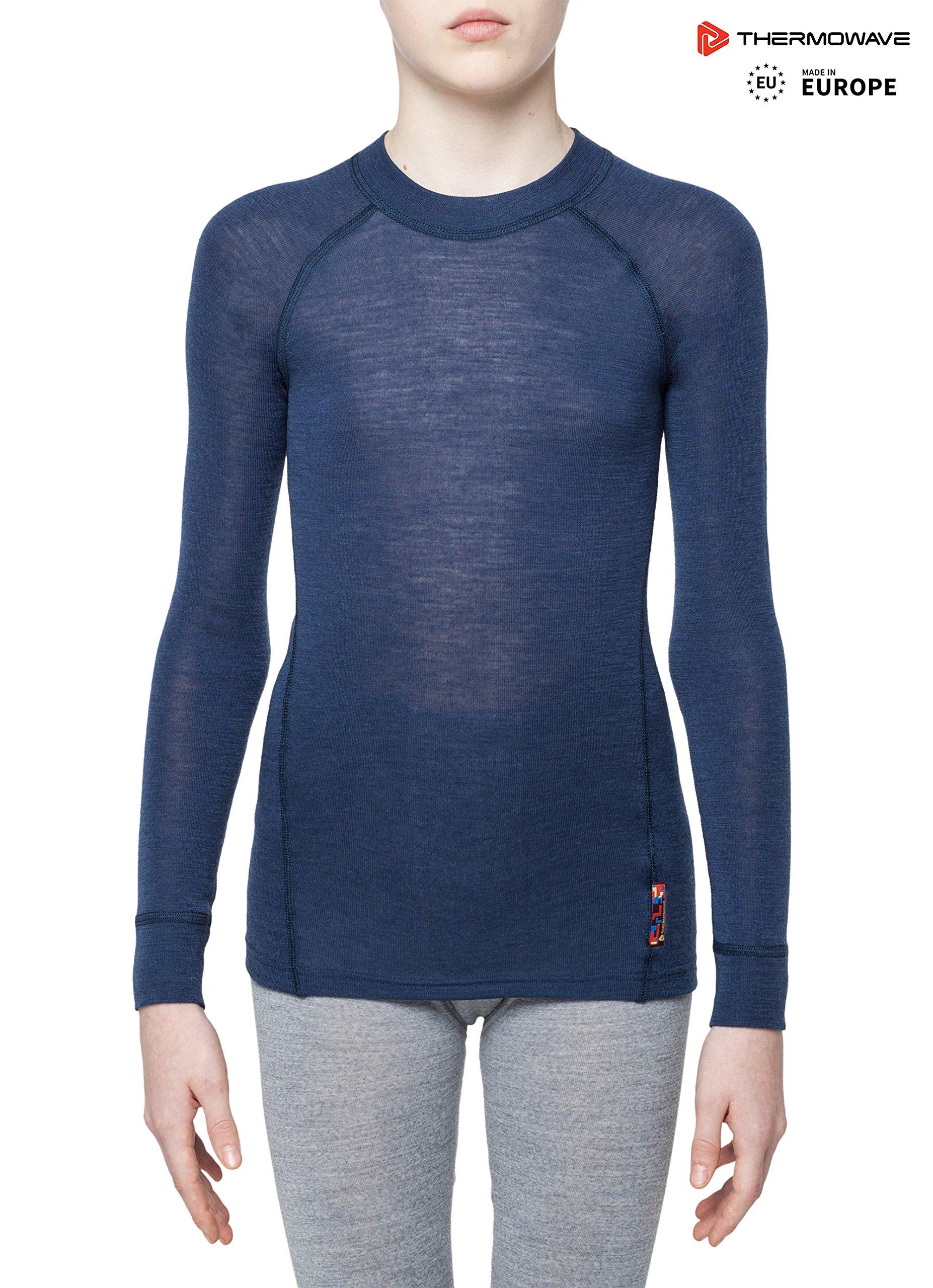 Thermowave - Merino Warm/Junior Merino Wool Shirt/Sargasso SEA - 158-164