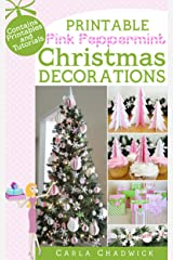 Printable Pink Peppermint Christmas Decorations