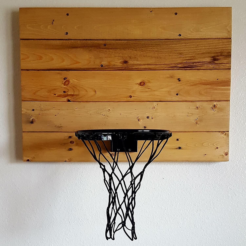Amazon Reclaimed Wood Basketball Hoop Wall Mounted Indoor
