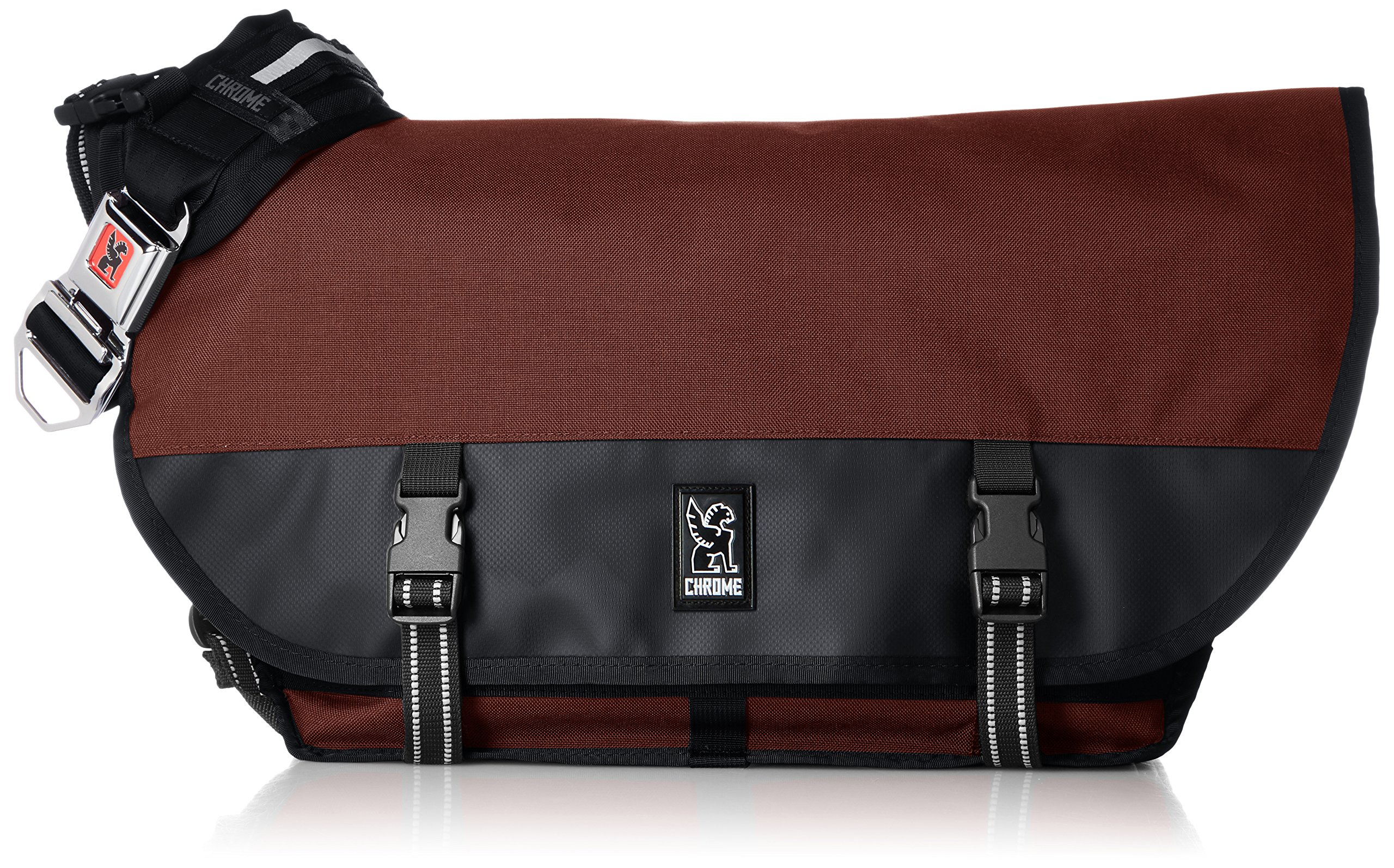 Chrome BG-002-BRIK Brick/Black One Size Citizen Messenger Bag Chrome Buckle