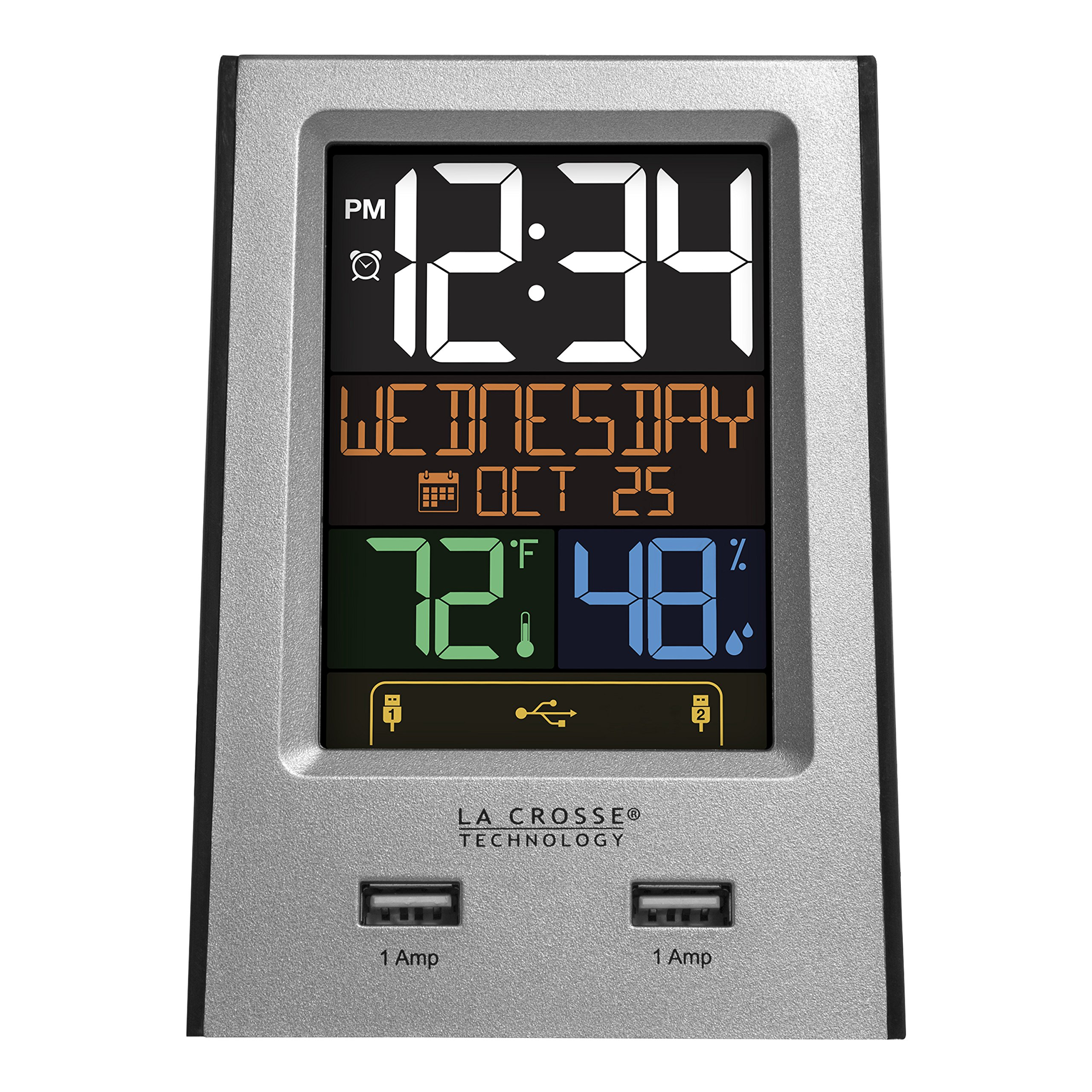 La Crosse Technology 617-1614 USB Charging Station with Alarms and Nap Timer