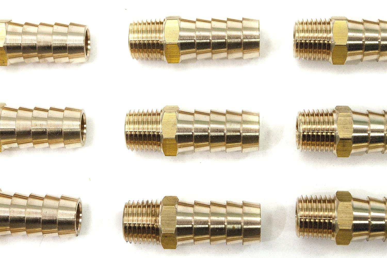 Sin Marca 3//16 manguera ID x 1//8 Macho NPT lat/ón de conector y acoplador Combustible gas agua 5 piezas