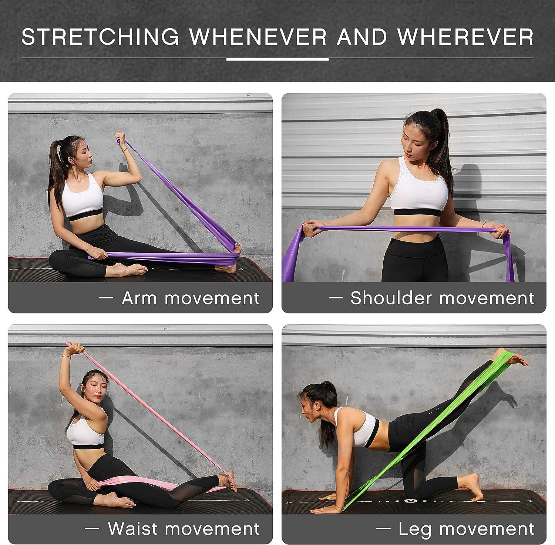 Essentials Bandas El/ásticas Banda de Resistencia de Fitness Yoga Pilates para rehabilitaci/ón y Terapia F/ísica para Hombres y Mujeres Bandas Ejercicio UMI
