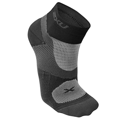 2XU Womens Training VECTR Sock, Small, Black/Black