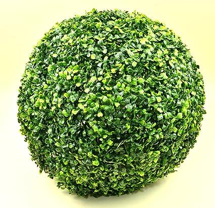 Buchsbaum Kugel Buxus künstlich Kunstpflanze Buchsbaumkugel Kunstbaum Ø 35cm Deko für Innen und Außen