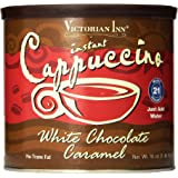 Victorian Inn Instant Cappuccino, White Chocolate Caramel, 16-Ounce Canisters (Pack of 6)