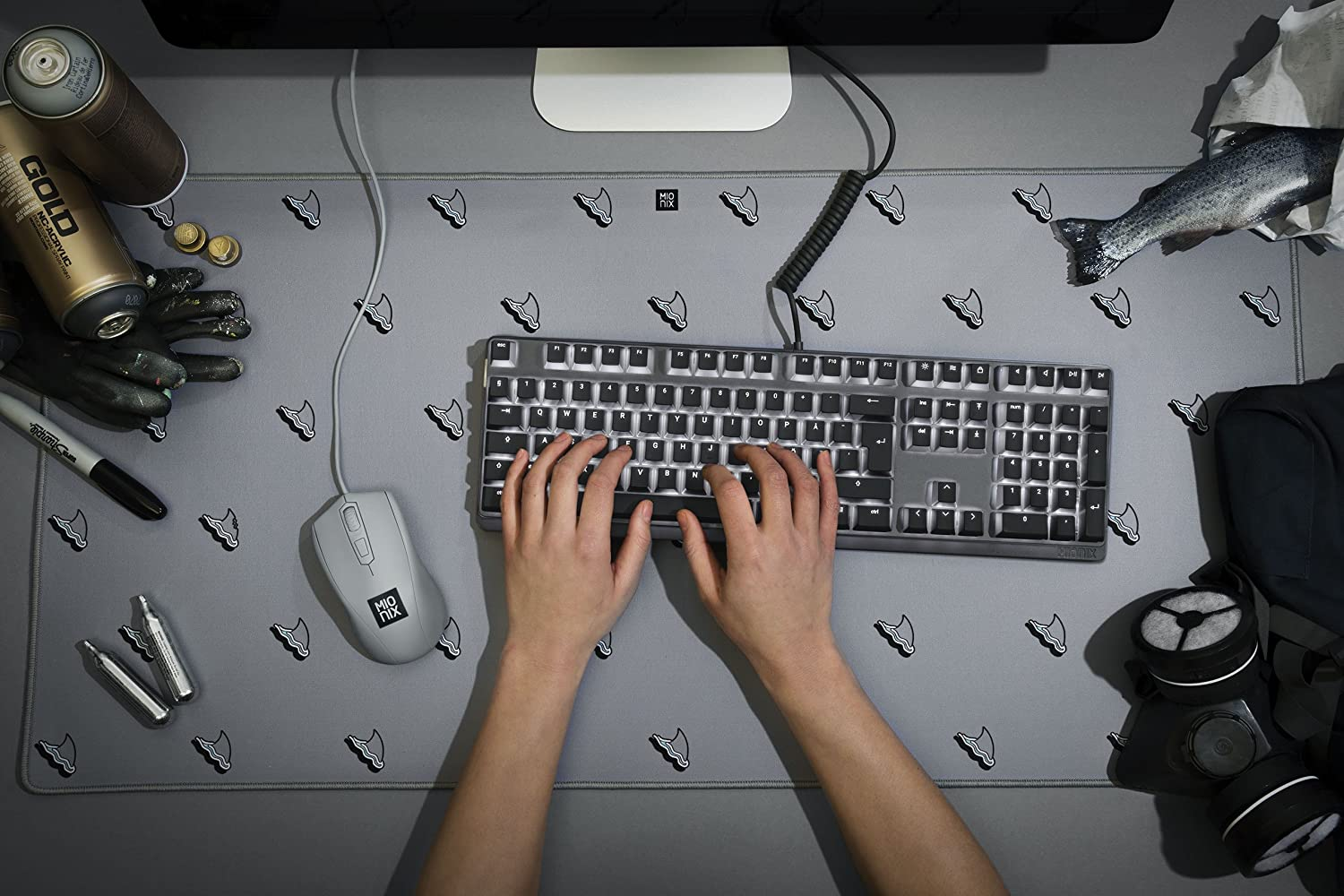 """Thick Desk Mat for Computers Office Protective Desktop Protector Pads 35.5/"""" x 17/"""" Writing Blue Large Extended Gaming Computer Mouse Pad Laptops Colorful Blotter Mats for Home"""