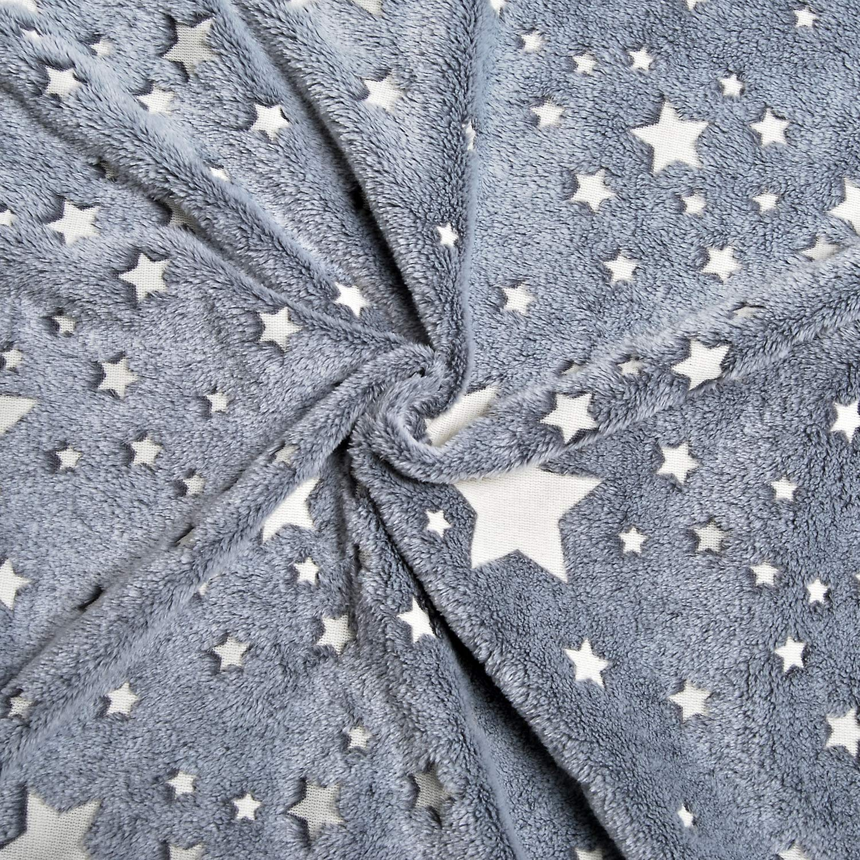 Forestar Glow in The Dark Throw Blanket, Birthday Gift for Kids Boys Girls Toddlers, Premium Super Soft Fuzzy Fluffy Plush Furry Throw Blanket (50'' x 70'' Gray) by Forestar (Image #7)