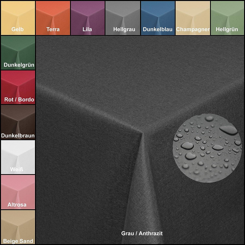 Brillino Tischdecke Eckig Eckig Eckig Weiß 130 x 340 cm Leinen Optik mit Lotus Effekt Größe & Farbe wählbar B075V5F4LZ Tischdecken cd9d5f