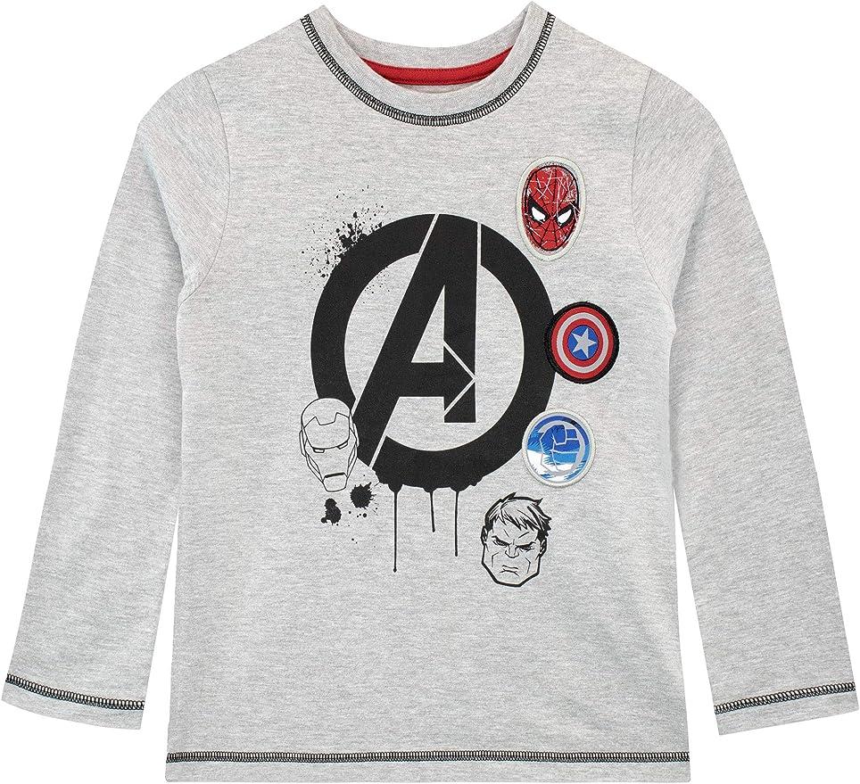 Marvel Camiseta de Manga Larga para niños Avengers: Amazon.es: Ropa y accesorios