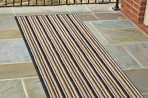 Dirt Stopper, 30 by 58-Inch, Navy Stripe