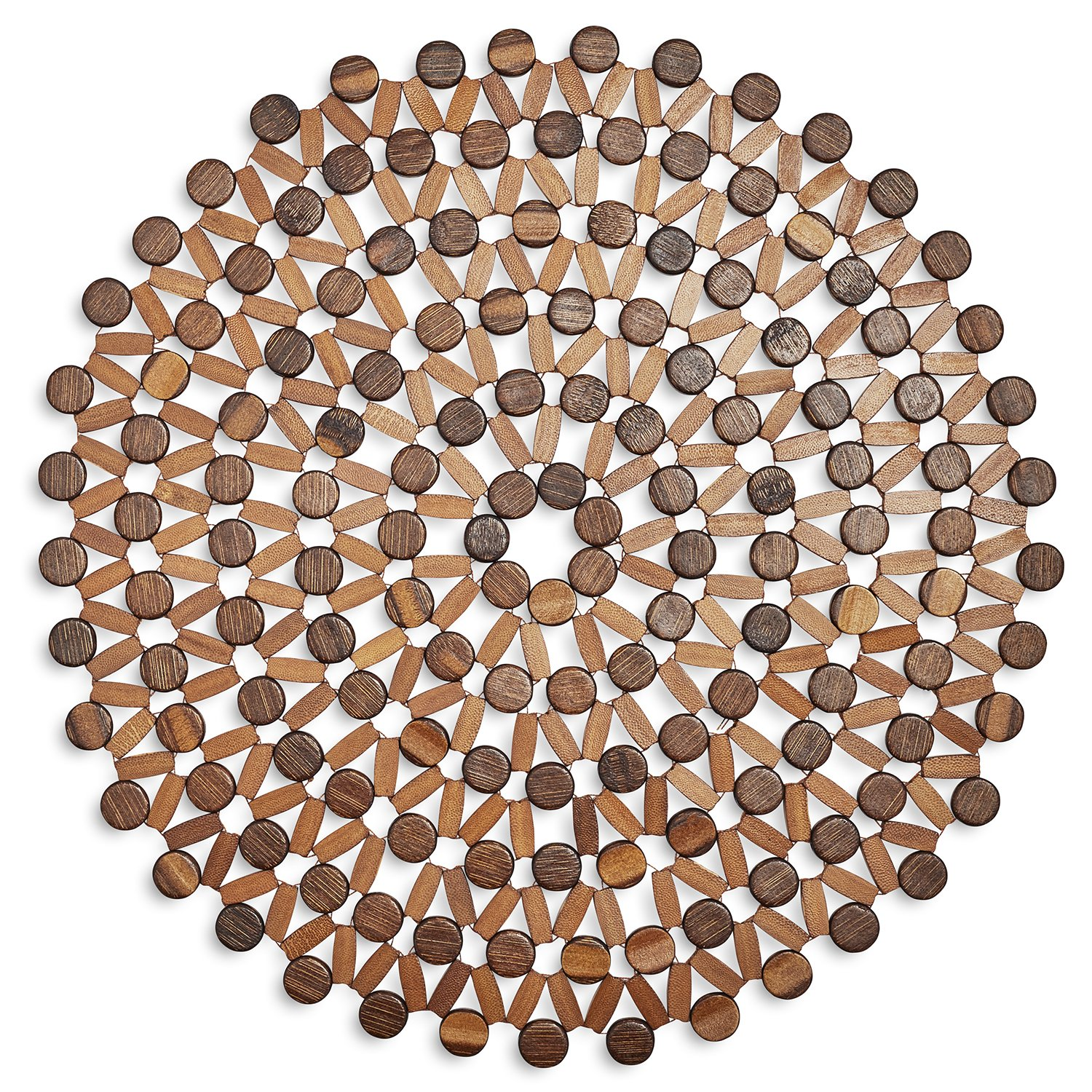 Brown & Natural Bamboo Beaded Placemat