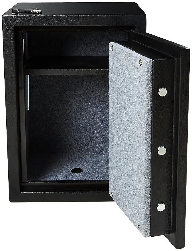 AmazonBasics Fire Resistant Box Safe, 1 24 Cubic Feet
