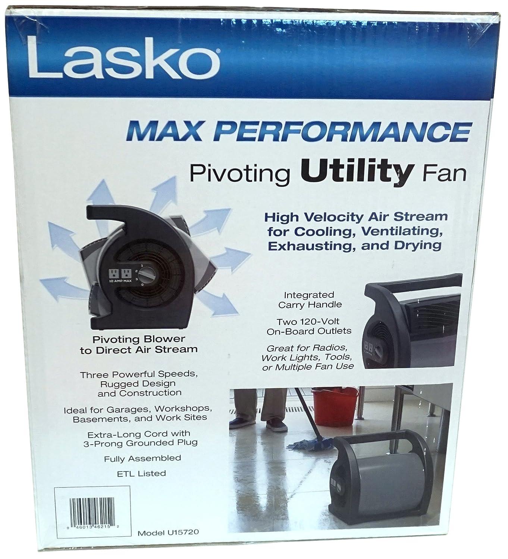 0f16de22e38b Amazon.com  Lasko Max Performance Pivoting Utility Fan Model U15720  Home    Kitchen