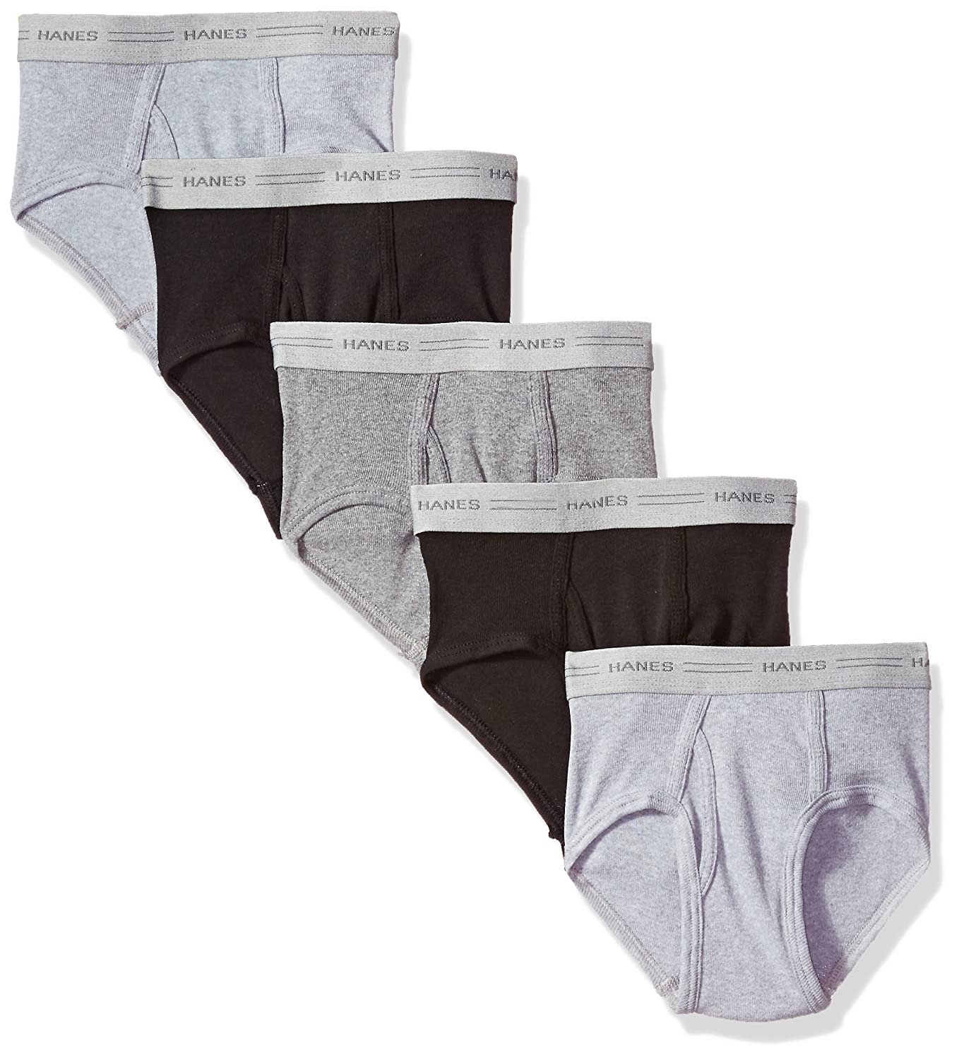Hanes Big Boy's ComfortSoft 5 Pack Briefs Assorted Large M249BU