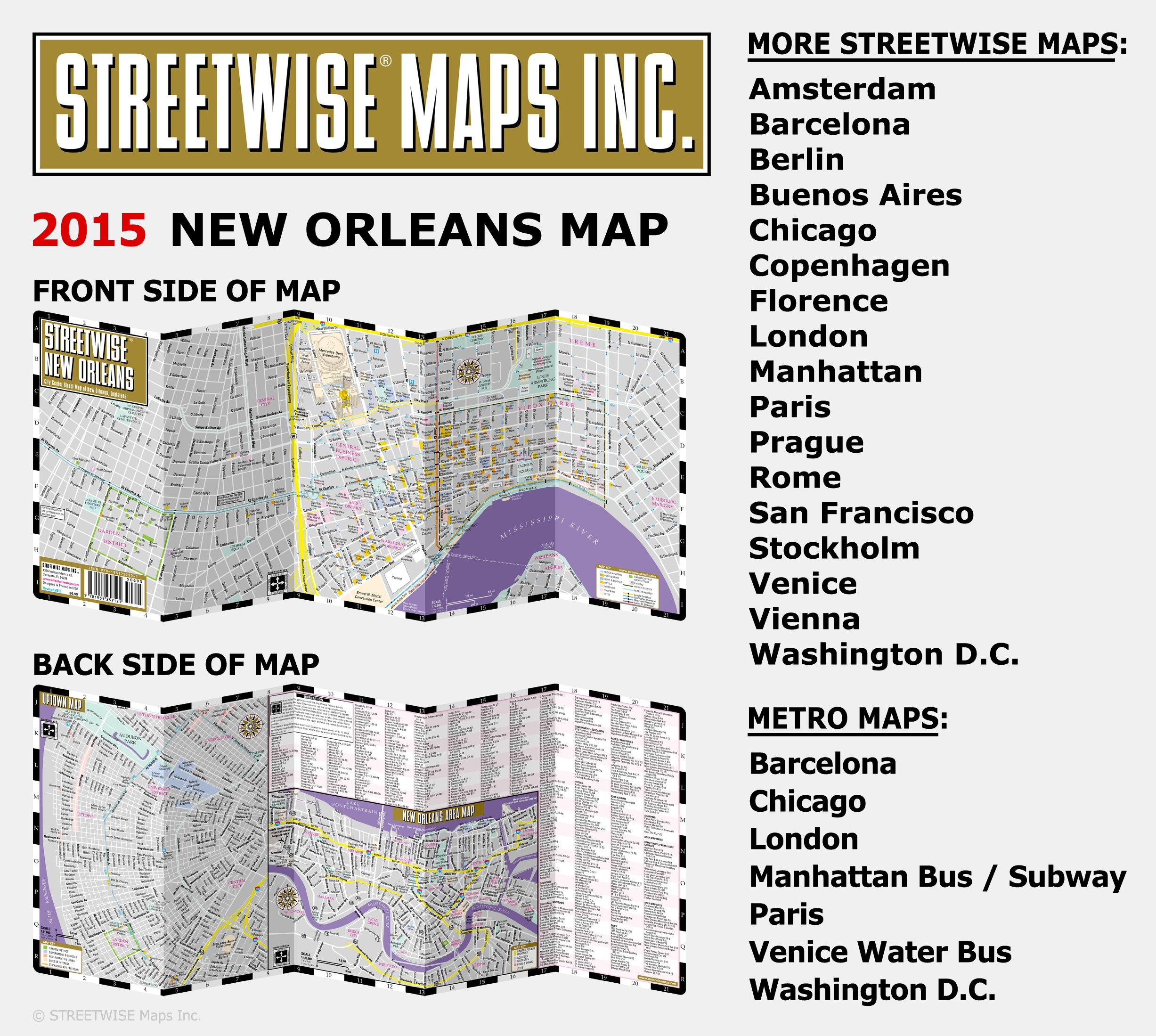 picture regarding French Quarter Map Printable identify Streetwise Fresh Orleans Map - Laminated Town Highway Map of
