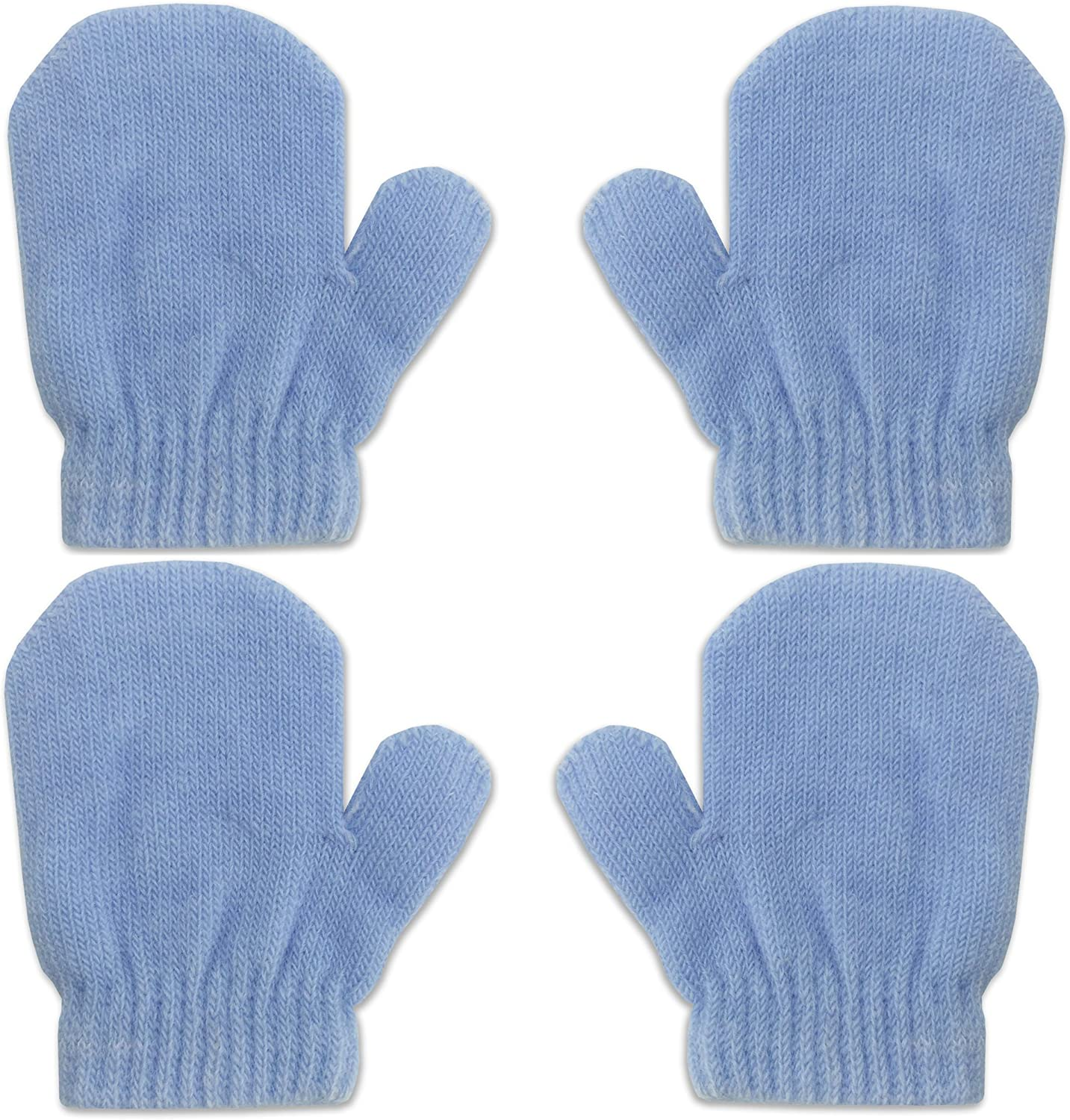 Baby Kids Gloves Ski Casual Mittens Gloves Knitted Elastic Thickened Warm Winter Color : Sky Blue