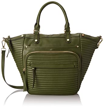 Steve Madden Bravenn Tote Satchel Bag, Green, One Size: Handbags ...