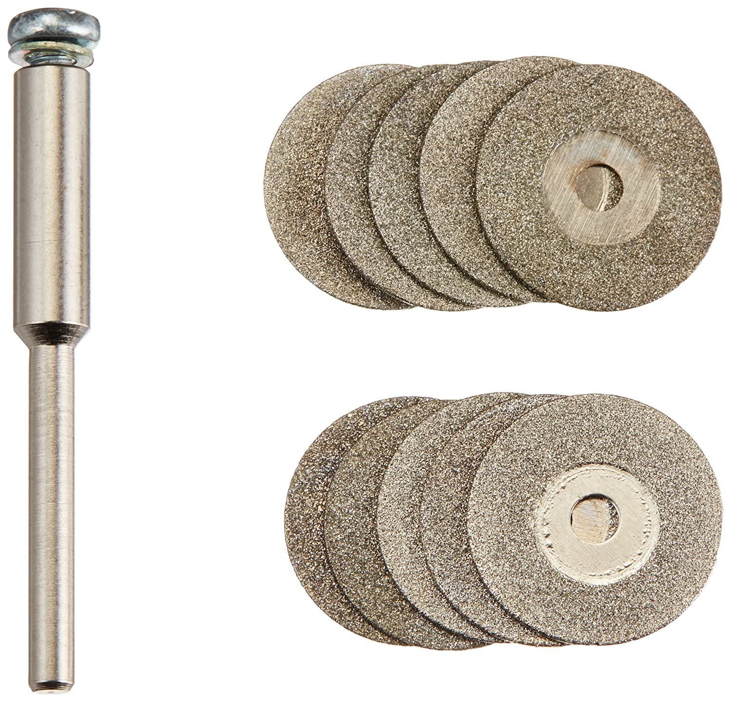 Diamond tipped rotary cut off wheel discs blades with 1//8 mandrel 5//8 16mm