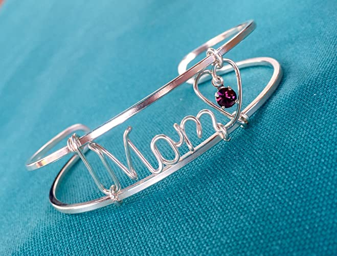 Amazon.com: Gold or Silver Wire Name Bracelet~Any Name~Multiple ...