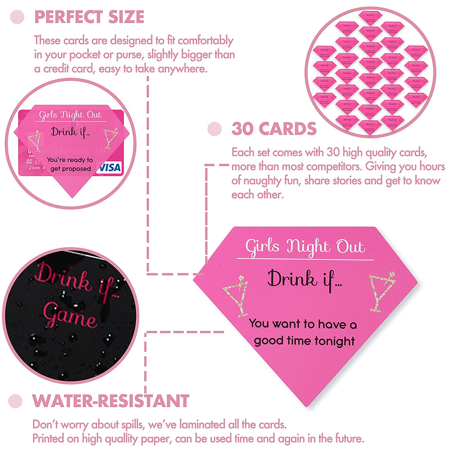 Amazon.com: Drink If Bachelorette Party Game – 30 count - Naughty ...