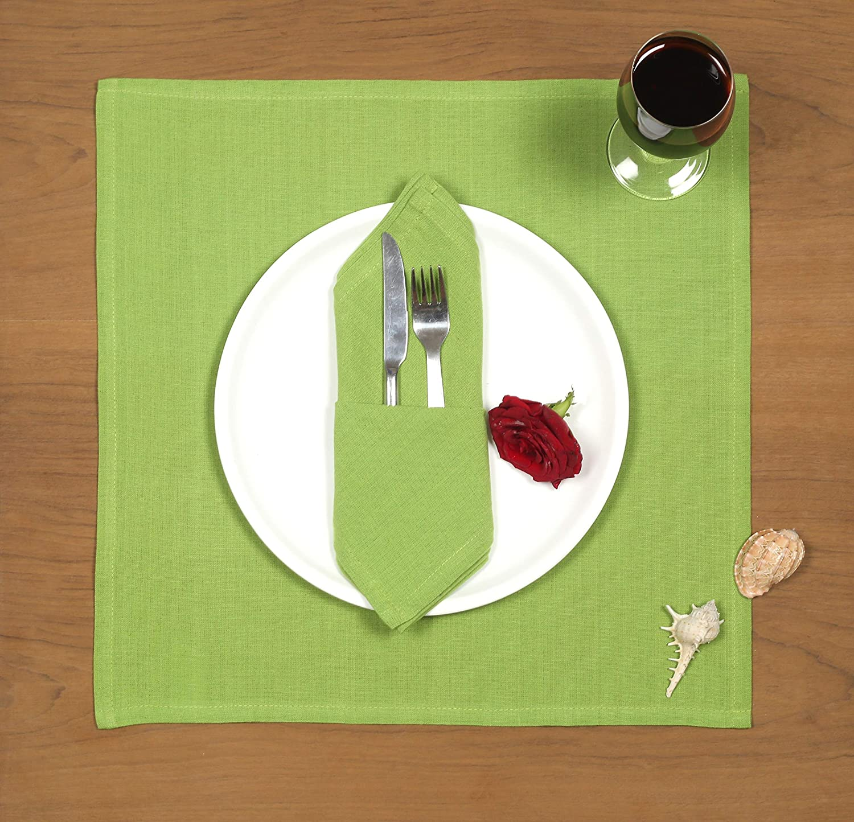 Cotton Clinic Everyday 17x17 Cloth Dinner Napkins Aqua Set of 12