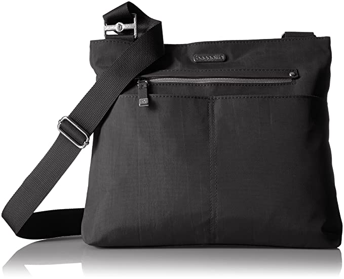 Baggallini All Around Large Crossbody, black with sand lining, One Size 9534e7a42b