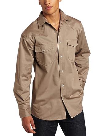Key Apparel Men's Long Sleeve Western Snap Welders Shirt