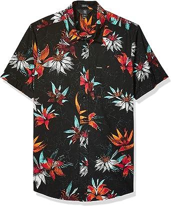 Volcom Mens Verano Stone Button Up Short Sleeve Shirt: Amazon.es: Ropa y accesorios