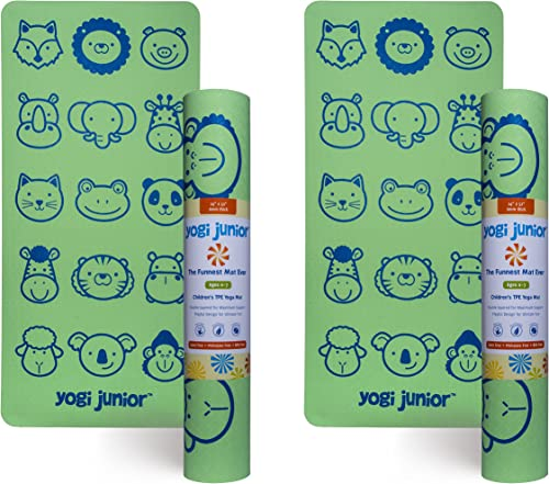 Yogi Junior Kids Yoga Mat – PVC Free – Double Layered TPE Foam
