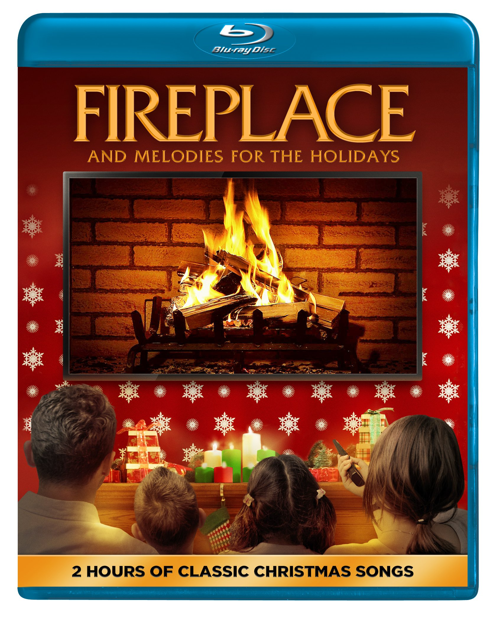 Blu-ray : Fireplace And Melodies For The Holidays (Widescreen, Digital Theater System, AC-3)