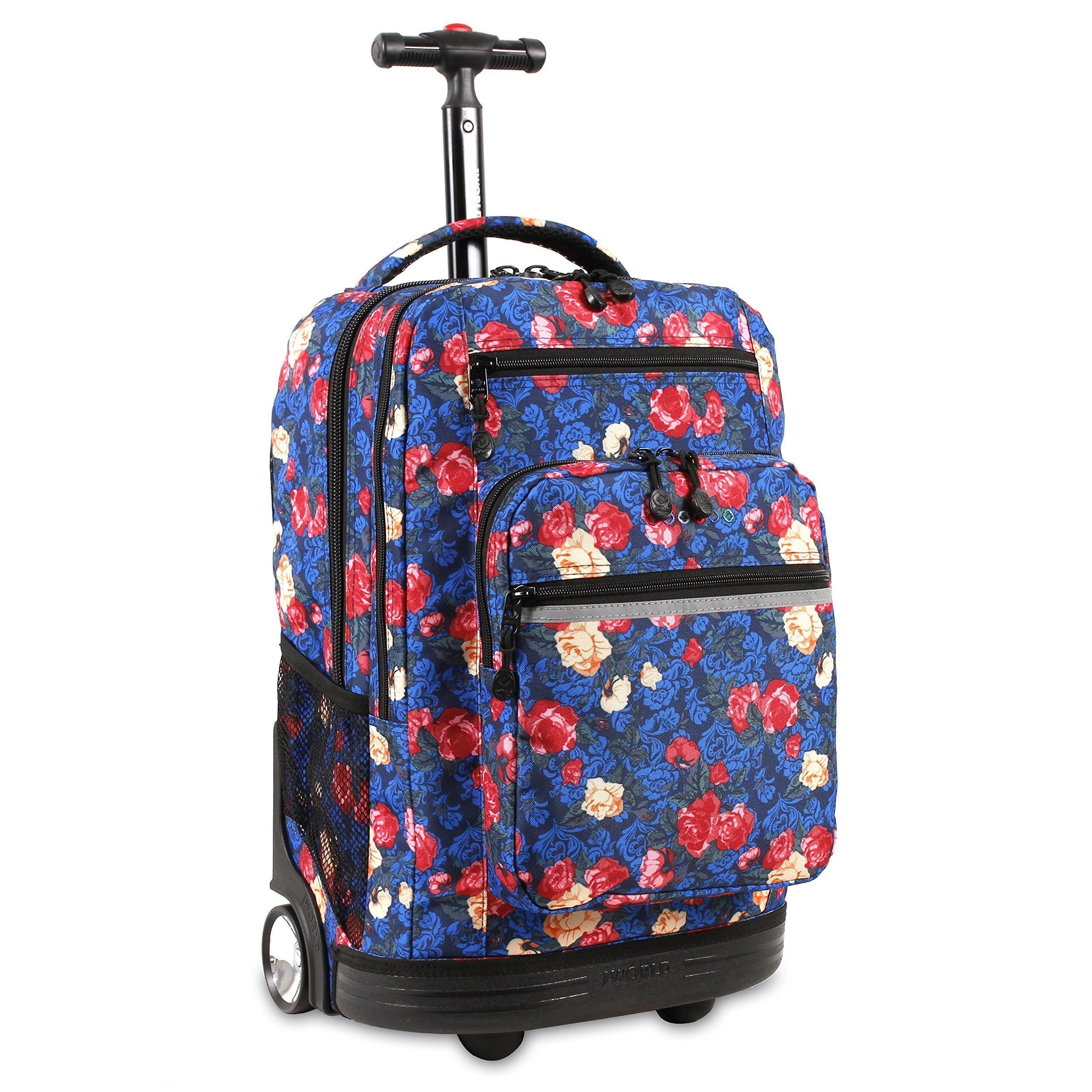 J World New York Sundance Laptop Rolling Backpack, Vintage Rose by J World New York